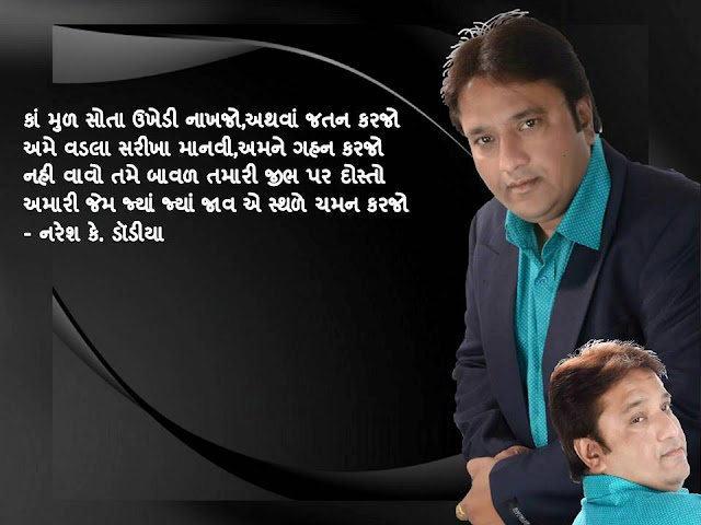 कां मुळ सोता उखेडी नाखजो,अथवां जतन करजो Gujarati Muktak By Naresh K. Dodia