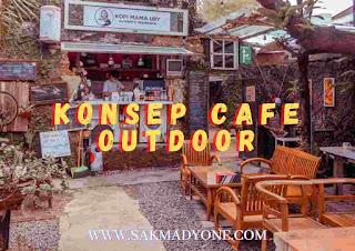 Konsep cafe sederhana outdoor
