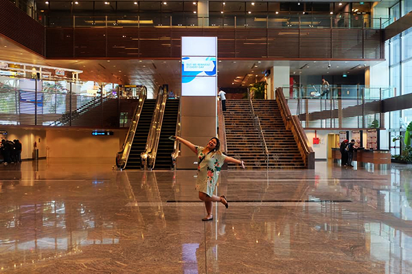 inside Changi airport