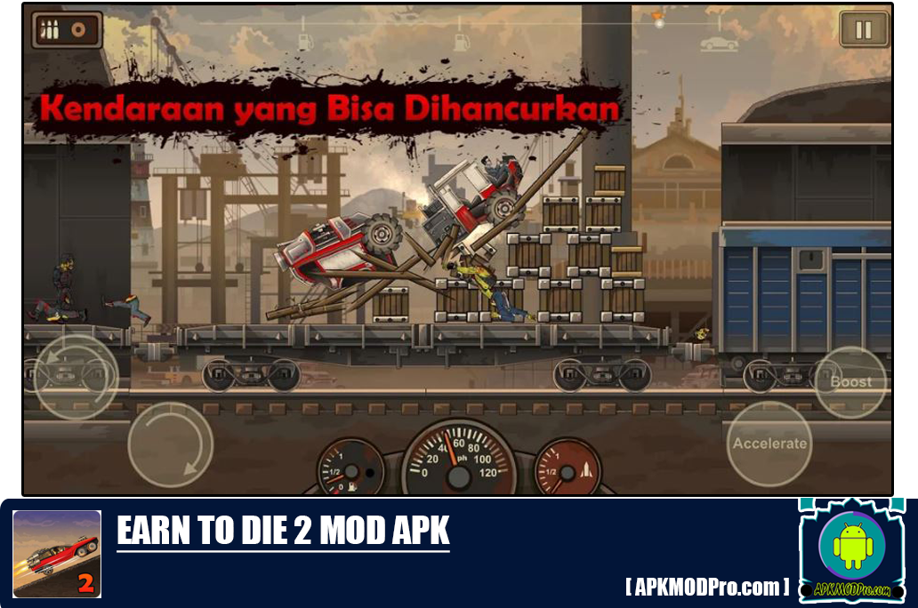 Download Earn to Die 2 MOD APK 1.4.18 (MOD MONEY, Free Shopping) Terbaru 2020