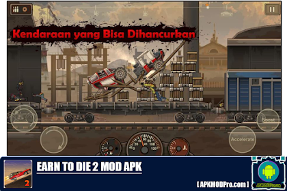 Earn to Die 2 MOD APK 1.4.18 (MOD MONEY, Free Shopping) Terbaru 2020