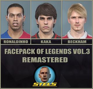 PES 2019 Facepack Legends v3 Remastered by Stels