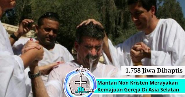 """Mantan Non Kristen Merayakan Kemajuan Gereja """"1.758 jiwa dibaptis """""""