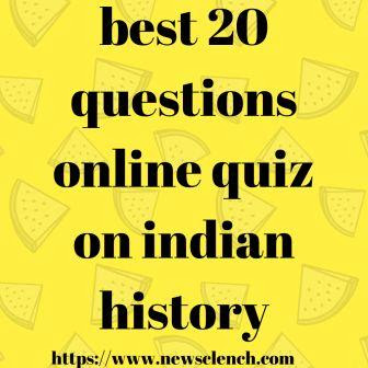 online quiz on indian history
