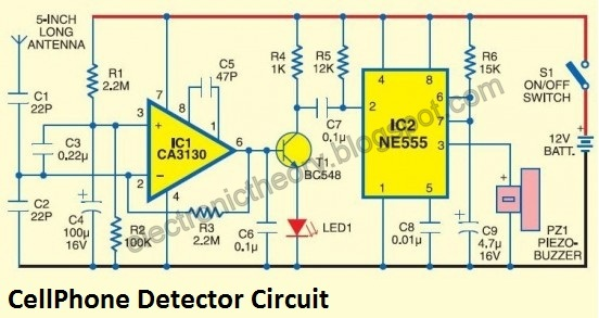Phenomenal Cell Phone Detector Circuit Diagram Electronictheory Gianparkash Wiring 101 Ponolaxxcnl