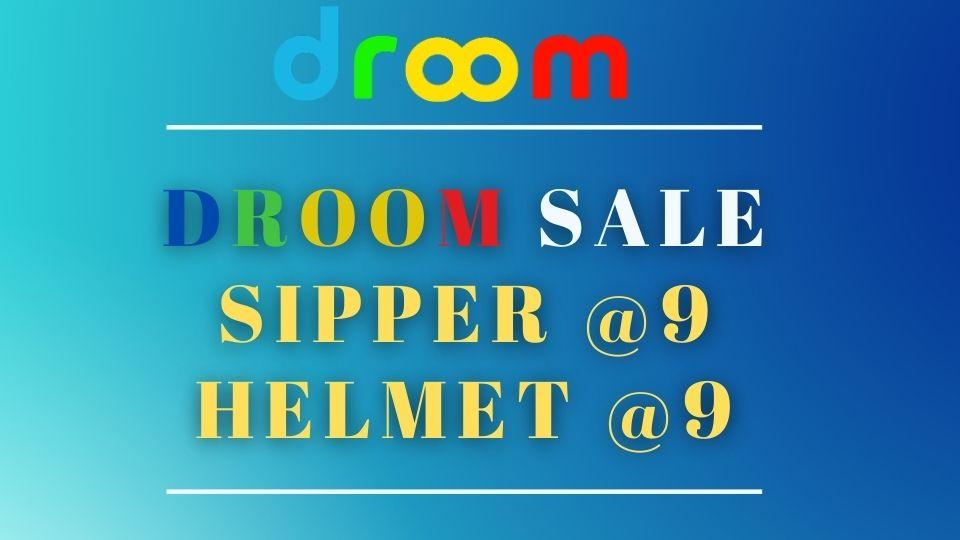 Droom Sale @9 - Droom Sipper Sale Date - sipper bottle, Droom Helmet, coupon code