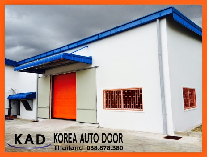 Describe the strength of logo printing on the high speed doors.