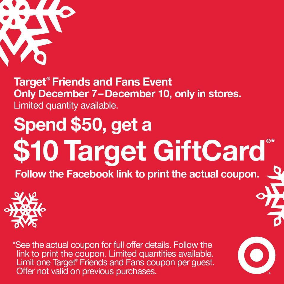 photo regarding Printable Target Gift Card titled Scorching* Free of charge $10 Concentration Present Card Each time Yourself Pay back $50
