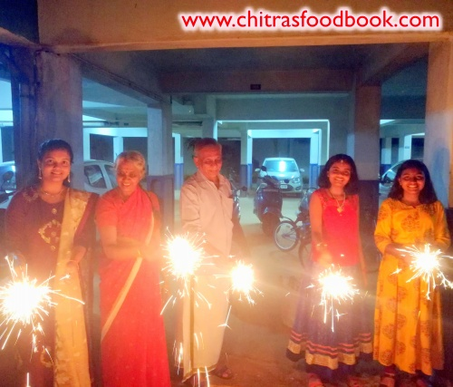 Diwali celebration at home