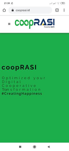Website untuk koperasi digital
