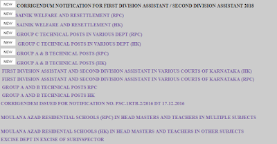 KPSC Notification, KPSC Recruitment, KPSC Recruitment 2019