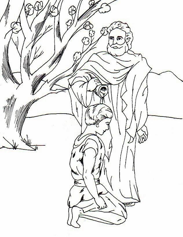 Imagenes Cristianas Para Colorear: Samuel Para Colorear