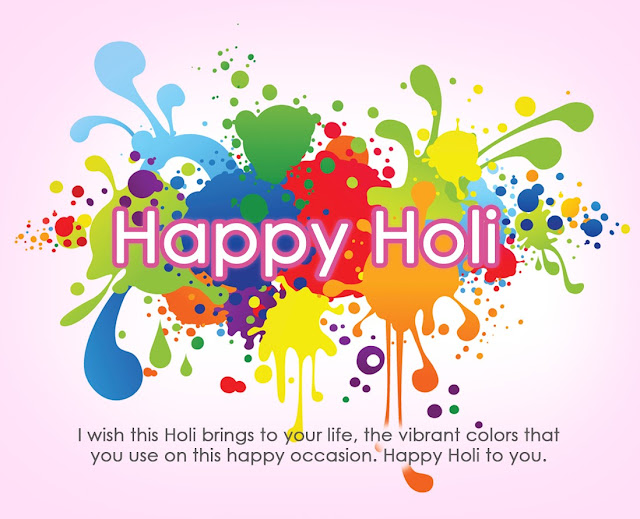 Holi message in english HD image wallpaper