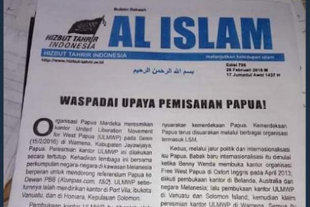 Analisa HTI Soal Papua