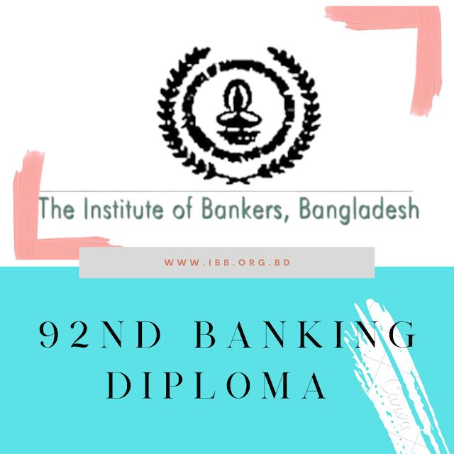 92nd IBB Banking Diploma Exam Routine 2021