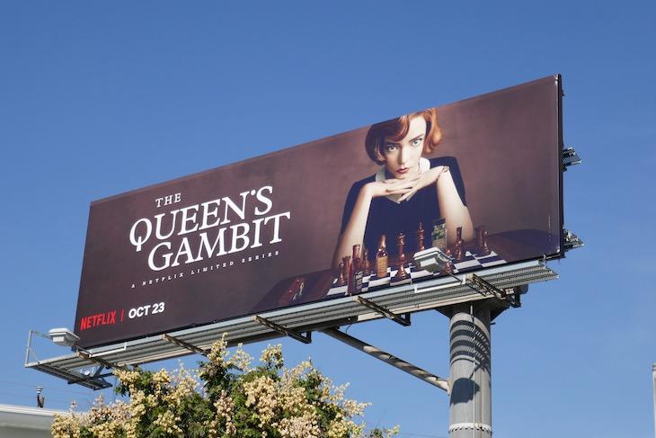 Queens Gambit limited series billboard
