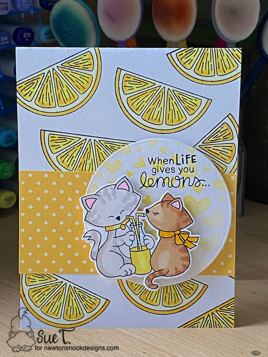When life gives you lemons by Sue T. features Lemon Twist and Newton's Sweetheart by Newton's Nook Designs; #newtonsnook
