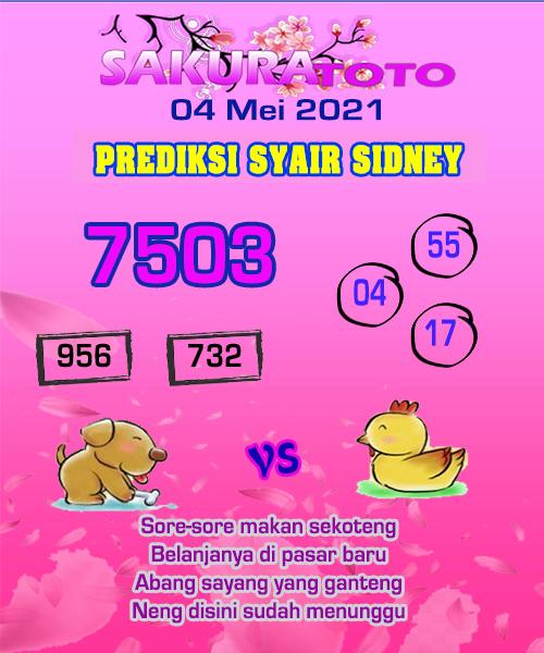 Syair Sakuratoto Sidney Selasa 04 Mei 2021