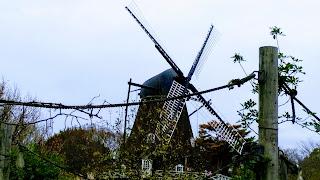 曇り空の風車 アンデルセン公園