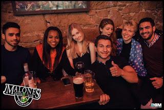 Pub. Edinburgh. Pint. Friends