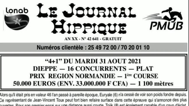 programme quinté Pronostic Mardi 31/08/2021