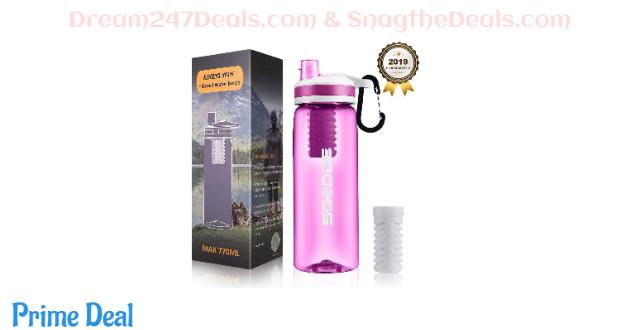 SGODDE Water Filter Bottles 40%OFF
