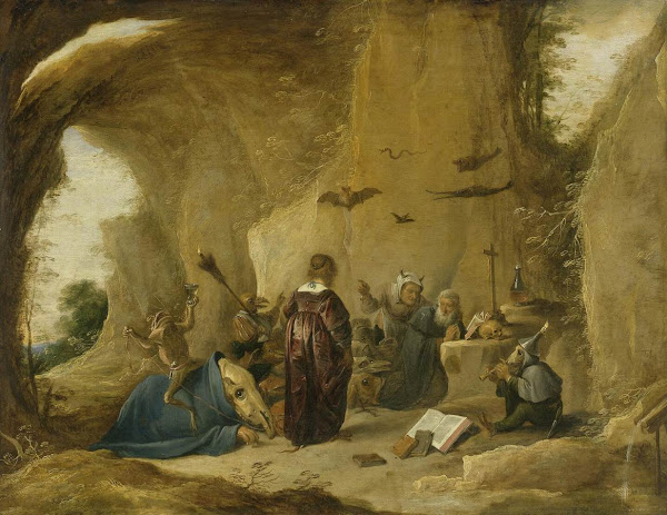 The Temptation of St. Anthony by David Teniers the Younger, Macabre Art, Macabre Paintings, Horror Paintings, Freak Art, Freak Paintings, Horror Picture, Terror Pictures