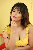 Cute Telugu Actress Shunaya Solanki High Definition Spicy Pos in Yellow Top and Skirt  0587.JPG