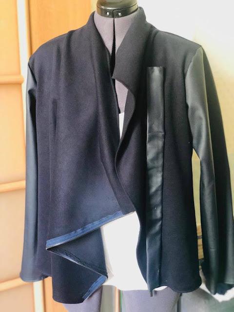 asimetrik yaka, ceket, hırka, kazak, dikiş, moda, tasarım, fashin, memade