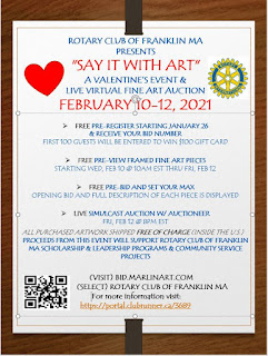 Rotary Club of Franklin MA-Fine Art Auction PREVIEW BEGINS