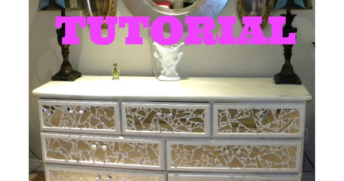 Ms Bingles Vintage Christmas: MIRROR Tile A Piece Of Furniture TUTORIAL  Repost.