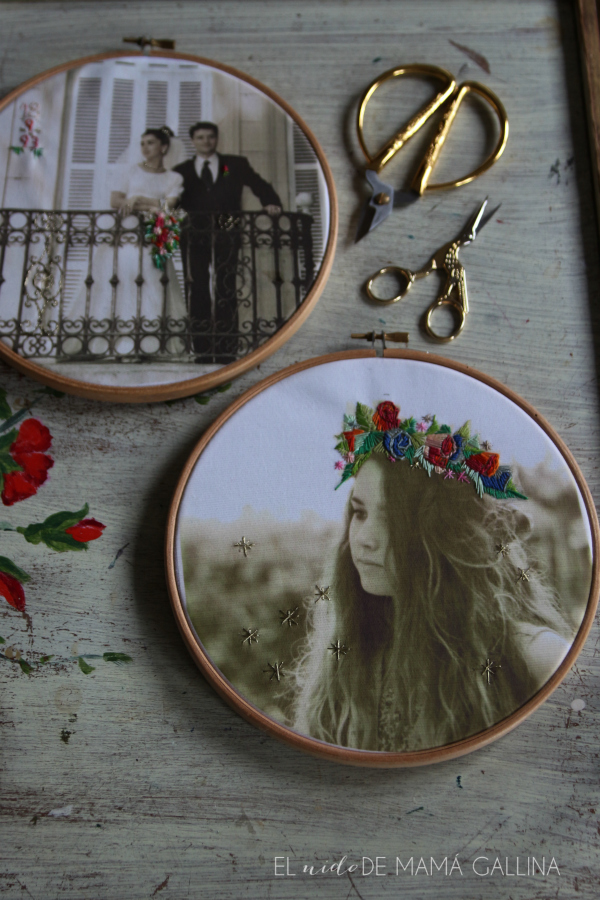 embroided photo