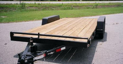 Featured Product - Wood Deck Car Hauler Trailers