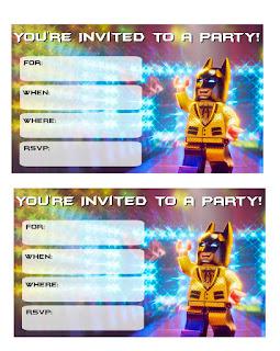 Batman Lego: Free Printable Invitations.