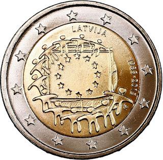 2€ Drapeau Européen 2015 Lettonie