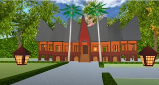 ID Rumah Gadang Minagkabau Di Sakura School Simulator