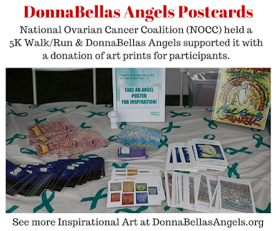 DonnaBellas Angels art cards at 5K Walk/Run Table