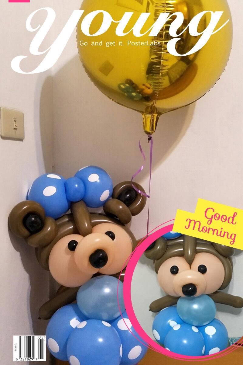 氣球達菲熊,balloon Duffy