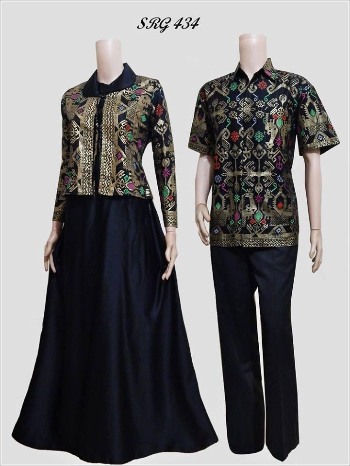Baju Batik Pasangan Gamis Srg 434 Model Bolero