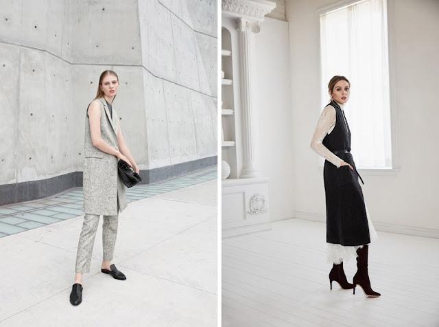 Удлиненный жилет с брюками и платьем