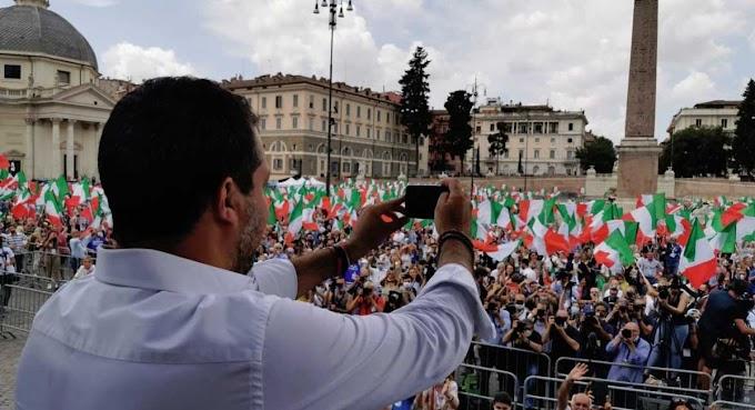 Il centrodestra contro il Governo in piazza a Roma