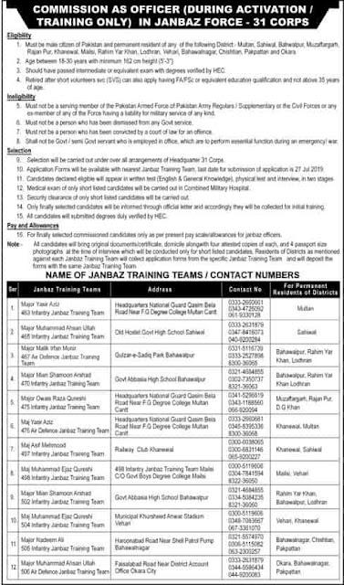 https://www.jobspk.xyz/2019/07/join-pak-army-2019-in-janbaz-force-31-corps-as-commissioned-officer.html
