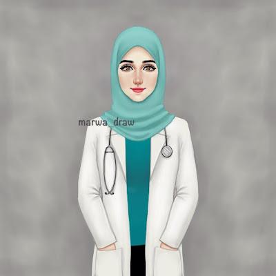contoh dokter muslimah wanita cantik