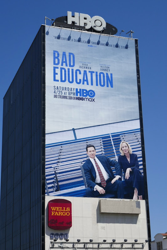 Giant Bad Education HBO film billboard