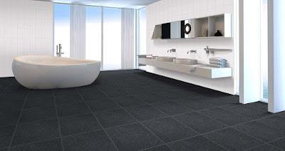 Black wall tiles Minimalis Bathroom floor