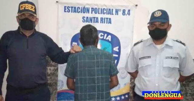 Viejo verde chavista detenido por abusar de una menor de 12 años de edad en el Zulia
