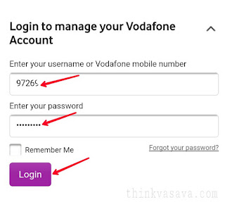 Login vodafone account