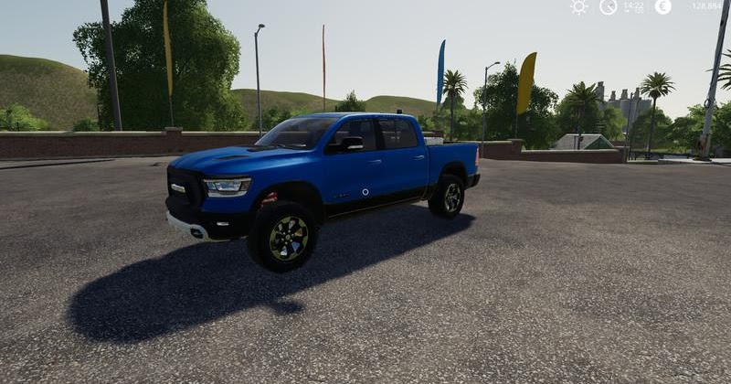 FS19 Dodge Ram 1500 Blue Flashing Beacon V1.0