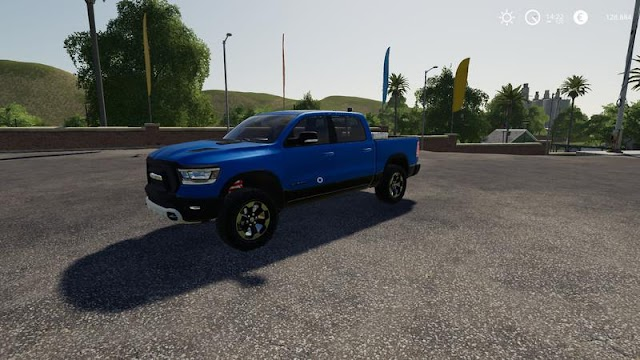 FS19 Dodge Ram 1500 blue flashing beacon v1.0